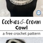 Crochet Cookies and Cream Cowl- A Free One Skein Pattern — Left in Knots