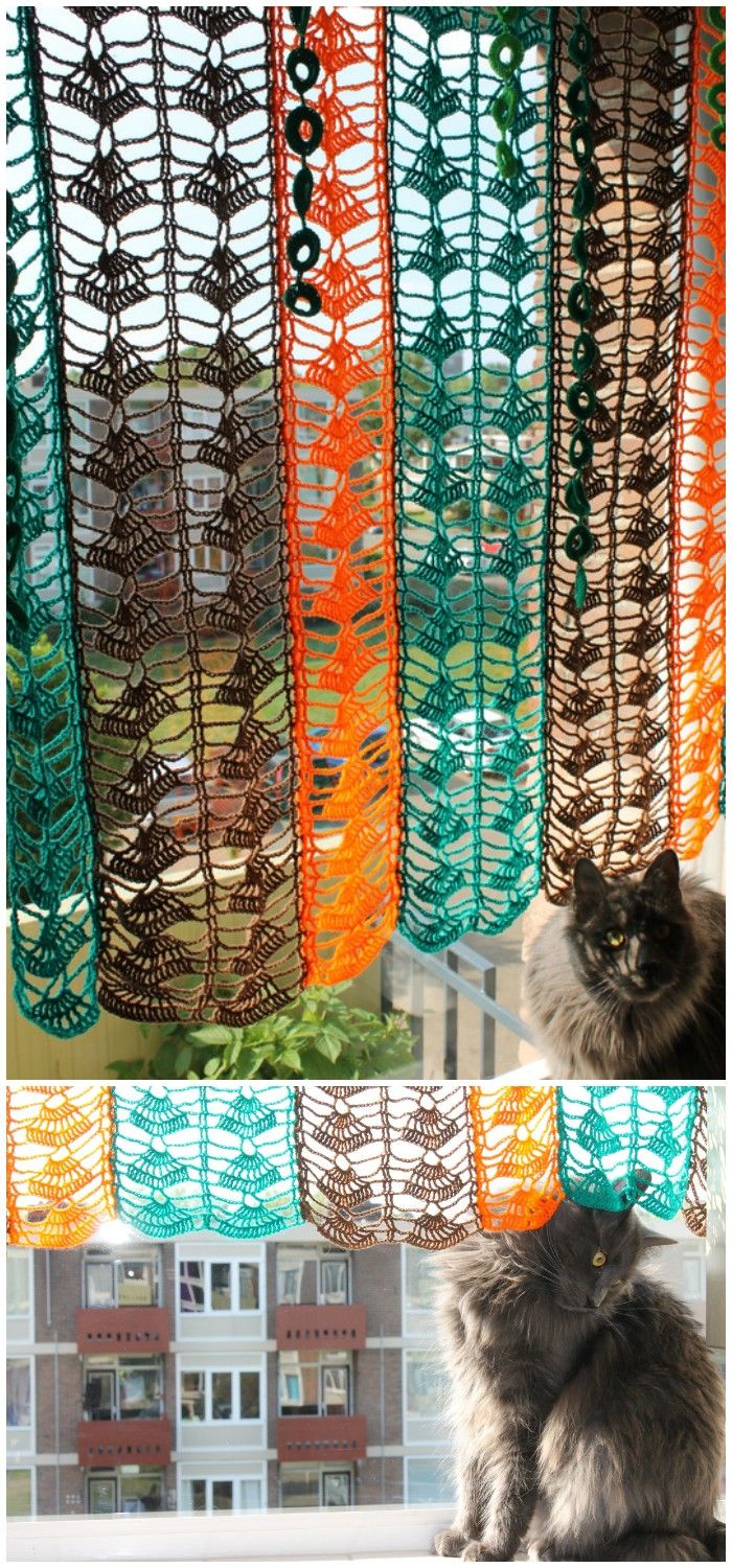 Crochet Curtain Free Patterns For Your Home Decor • DIY Home Decor