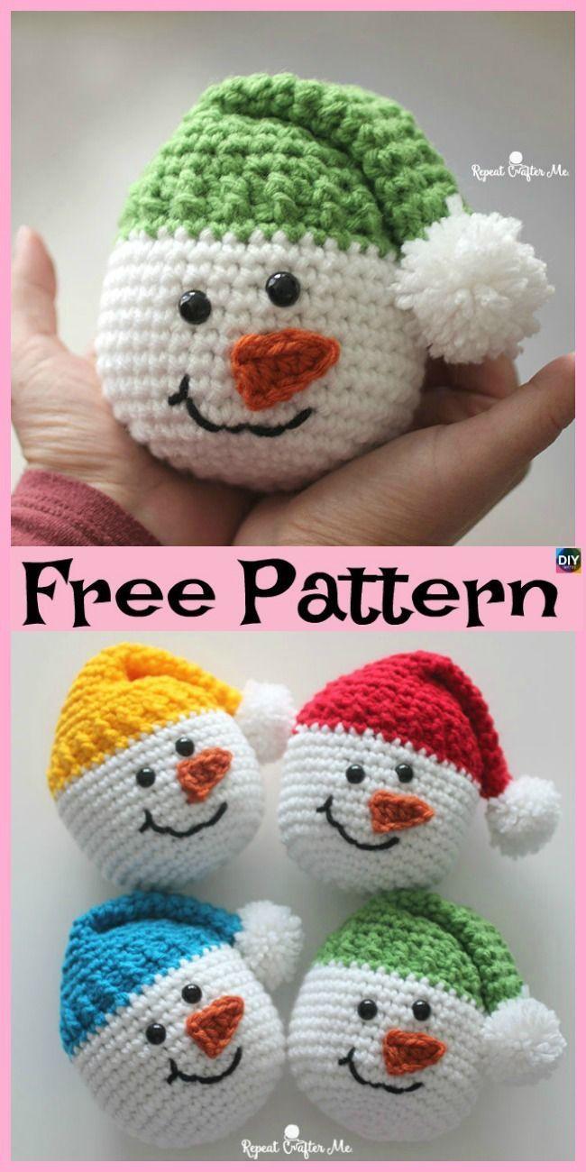 Crochet Cute Snowman – Free Pattern – DIY 4 EVER