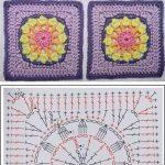 Crochet Daisy Square – Pattern (in English