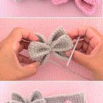 Crochet Easy Butterfly Bow Headband