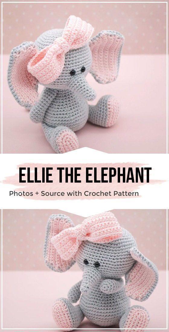 Crochet Ellie the elephant Amigurumi Pattern