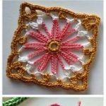 Crochet Flower Square  #Crochet #Flower #Square