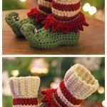 Crochet Just Elfin' Around Elf Slippers Crochet Pattern