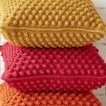 Crochet Kissenbezug: Siehe Tutorials und Vorlagen
