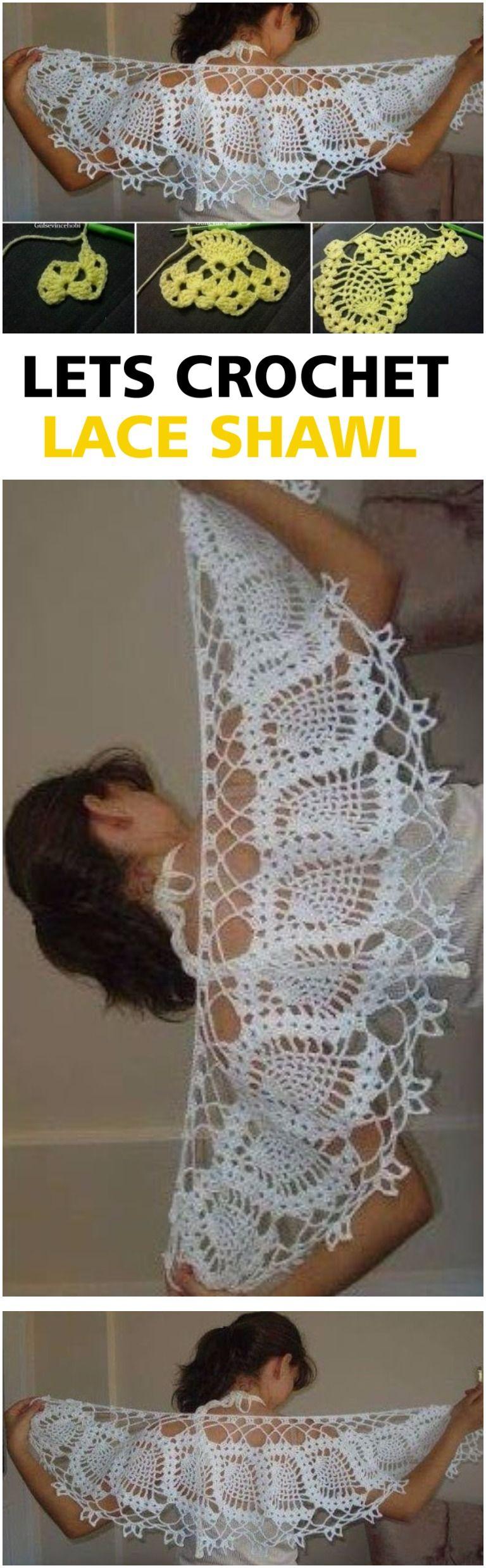 Crochet Lace Shawl Tutorial