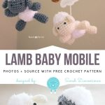 Crochet Lamb Baby Mobile Free Pattern