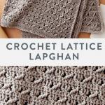 Crochet Lattice Lapghan free easy crochet pattern in Suoer Saver yarn. Alternate...