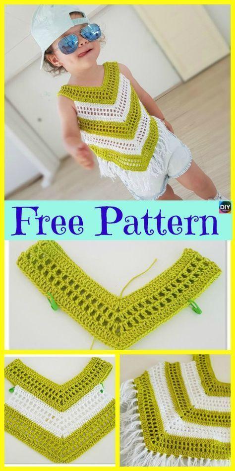 Crochet Little Girl Summer Top – Free Pattern