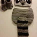 Crochet Newborn Baby Girl or Boy Woodland Raccoon Costume - Photo Prop - Beanie ...