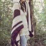 Crochet PATTERN: Woodsman's Wife Ruana / Pixie Hood Cape / Oversize Wrap - Instant Download PDF