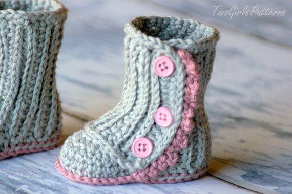 Crochet Pattern #112 Baby Wrap Boot – Instant Download – PDF L