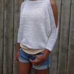 Crochet Pattern - Lily of the Valley Sweater/ Open Shoulders Cropped Jumper/Easy Handmade Top/ Oversized Pullover