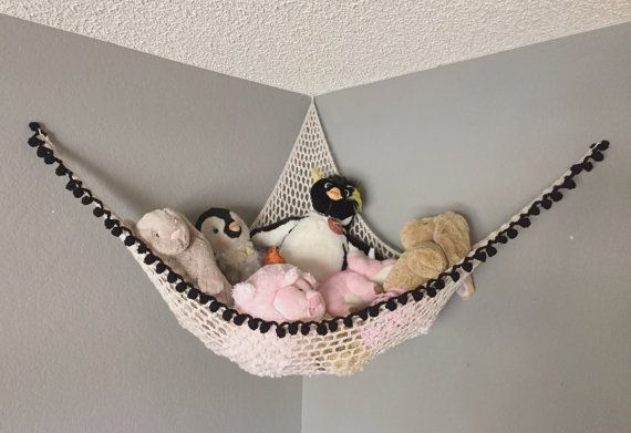 Crochet Pattern / PDF Download / Make Your Own Customizable Stuffed Animal Hammock / Soft Hanging Toy Storage For Nursery Bedroom Playroom