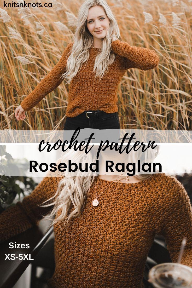 Crochet Pattern – Rosebud Raglan
