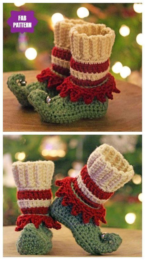 Crochet Patterns Crochet Just Elfin' Around Elf Slippers Crochet Pattern