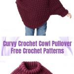 Crochet Patterns Curvy Crochet Cowl Pullover Sweater Free Crochet Patterns – 6 years kids