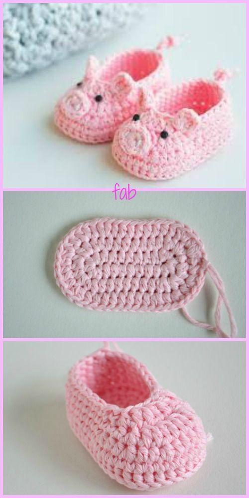 Crochet Pig Slipper Free Patterns