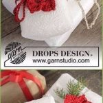 Crochet Poinsettia Gift Wrap Topper kostenlose Muster - Crochet Poinsettia Chris...
