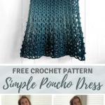 Crochet Poncho Dress - free crochet poncho pattern by