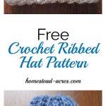 Crochet Ribbed Hat Pattern - Crochet and Knitting Patterns