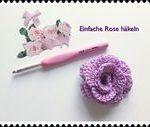 Crochet SUPER EASY Rose / Crochet Application for Beginners - YouTube  - Kaninch...
