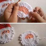 Crochet Santa Applique – Christmas Pattern - Crochet and Knitting Patterns
