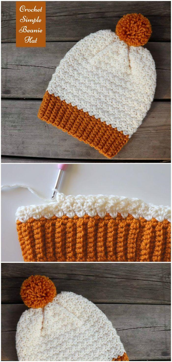 Crochet Simple Beanie Hat