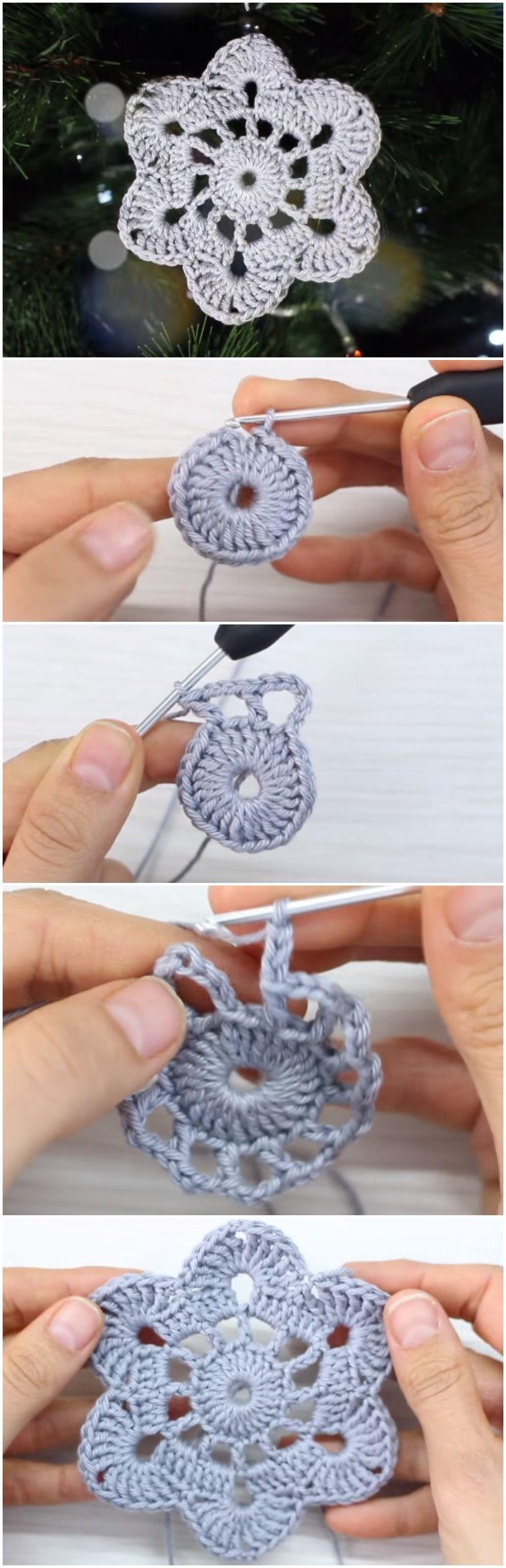 Crochet Snowflake Christmas Ornament