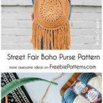 Crochet Street Fair Boho Purse Pattern # -  Crochet Street Fair Boho Purse Patte...