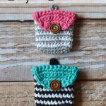 Crochet Striped Coin Purse
