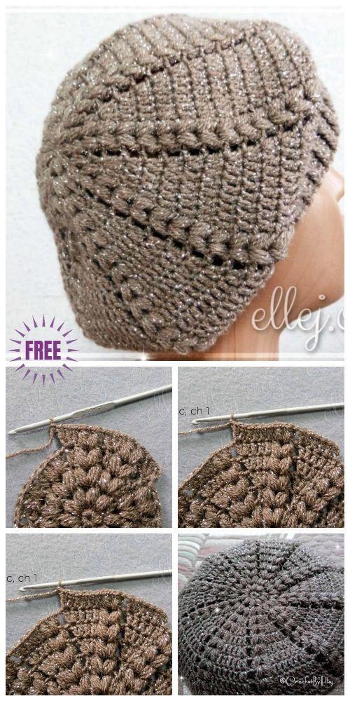 Crochet Sunburst Beret Hat Free Crochet Patterns – Crochet and Knitting Patterns