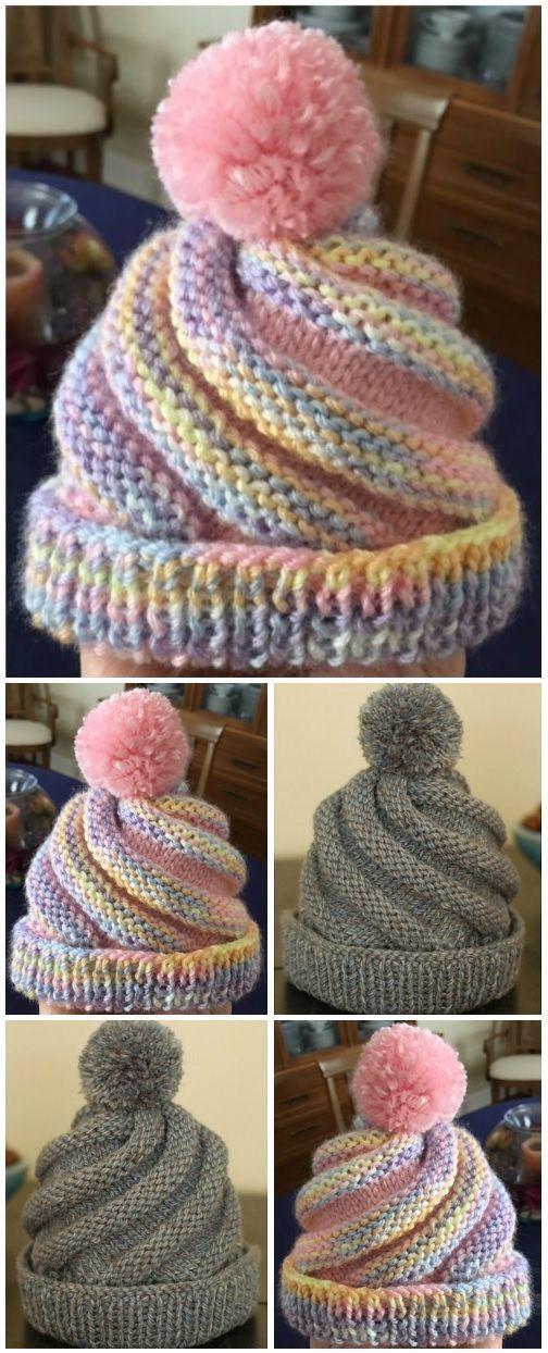 Crochet Swirled Hat Free Pattern – Design Peak