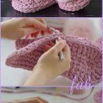 Crochet T-Shirt Yarn House Slippers Shoes Free Pattern