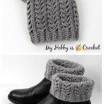 Crochet Textured Boot Cuffs Free Crochet Patterns
