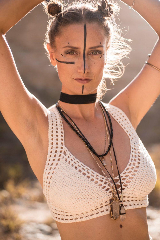 Crochet Top – Geo Flow Bralette. Festival Style. Crochet Bikini. Corset. Gypsy. Yoga Top. Hooping. Racerback. Mermaid. Lace Bra. Handmade