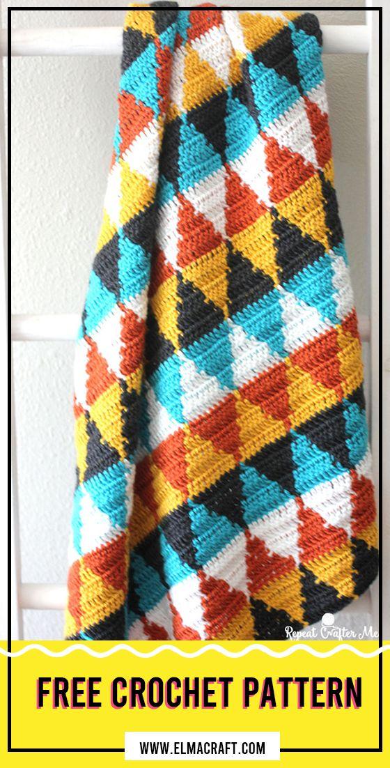 Crochet Triangle Blanket Pattern #BabyBlanket #crorchet #crocehtpattern