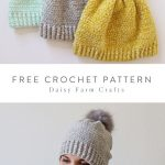 Crochet Velvet Winter Hat