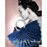 Crochet Vintage modello 1940s Half Moon Fan borsa borsa digitale Scarica PDF