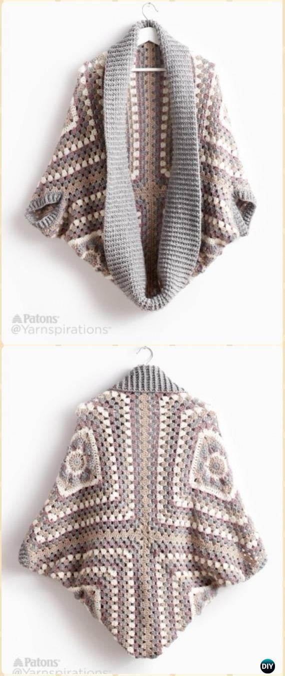 Crochet Women Shrug Cardigan Free Patterns Tutorials