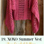 Crochet Women Vest Free Patterns [Spring Summer Sweater Outwear