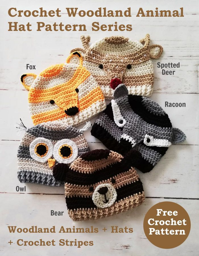 Crochet Woodland Bear Hat Free Pattern