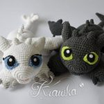 Crochet a Toothless and His Girlfriend Light Fury – These Are The Best Dragon Amigurumi Patterns Ever!