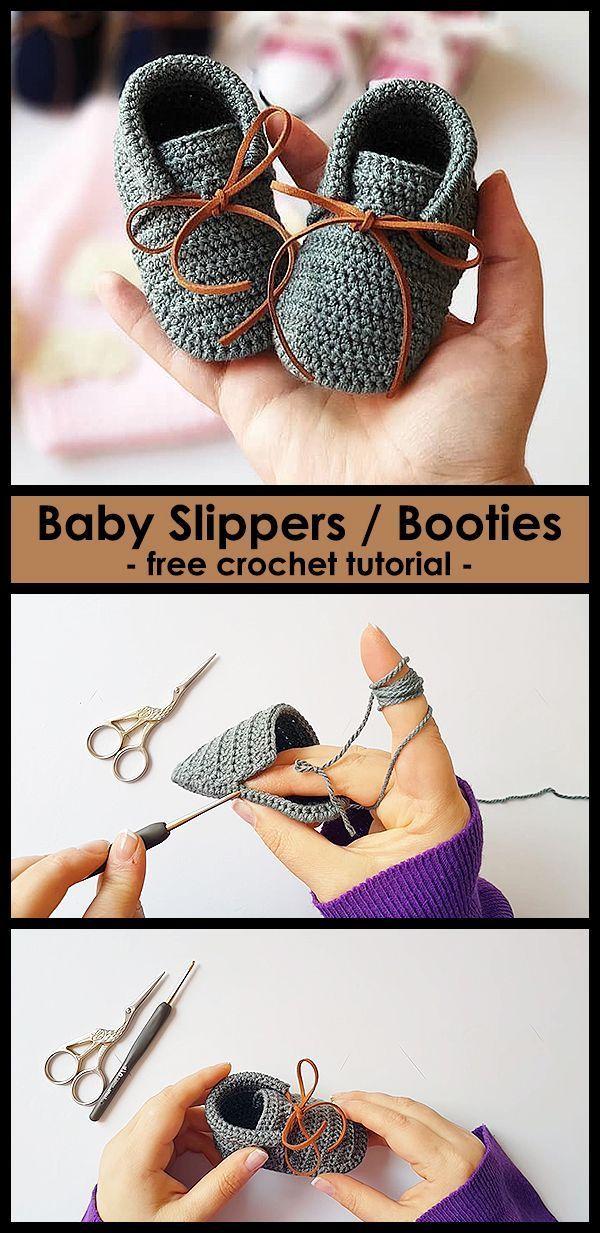 Crochet beautiful shoes for babies