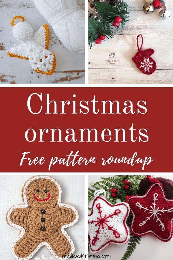Crochet christmas ornaments – free pattern roundup