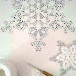 Crochet hanging snowflake PDF Pattern Instant Download Christmas winter weddings...