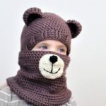 Crochet pattern, Patron crochet, PDF, Blair BEAR Set=hat+cowl, toddler, child, teen, adult size, Crochet hat, Crochet cowl, 2for1, Halloween