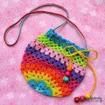 Crochet rainbow purse - free pattern. Cute for the little girls
