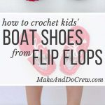"""Crochet toddler """"boat shoe"""" slippers with flip flop soles - free pattern!"""