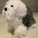 Crocheted Old English Sheepdog PDF Pattern - Digital Download - ENGLISH ONLY
